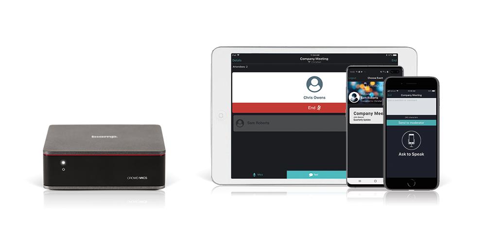 Skapa en interaktiv videokonferens med användarnas telefoner som mikrofoner